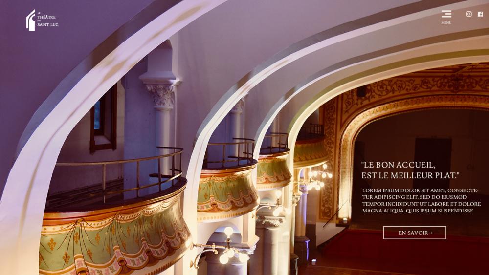 home page saint luc theatre salle de location tournai